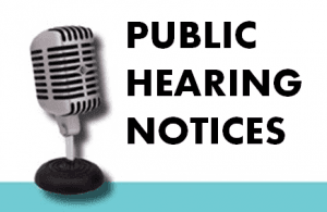 Notice of Public Hearing Image