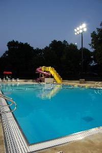 Slide at the End of the Pool