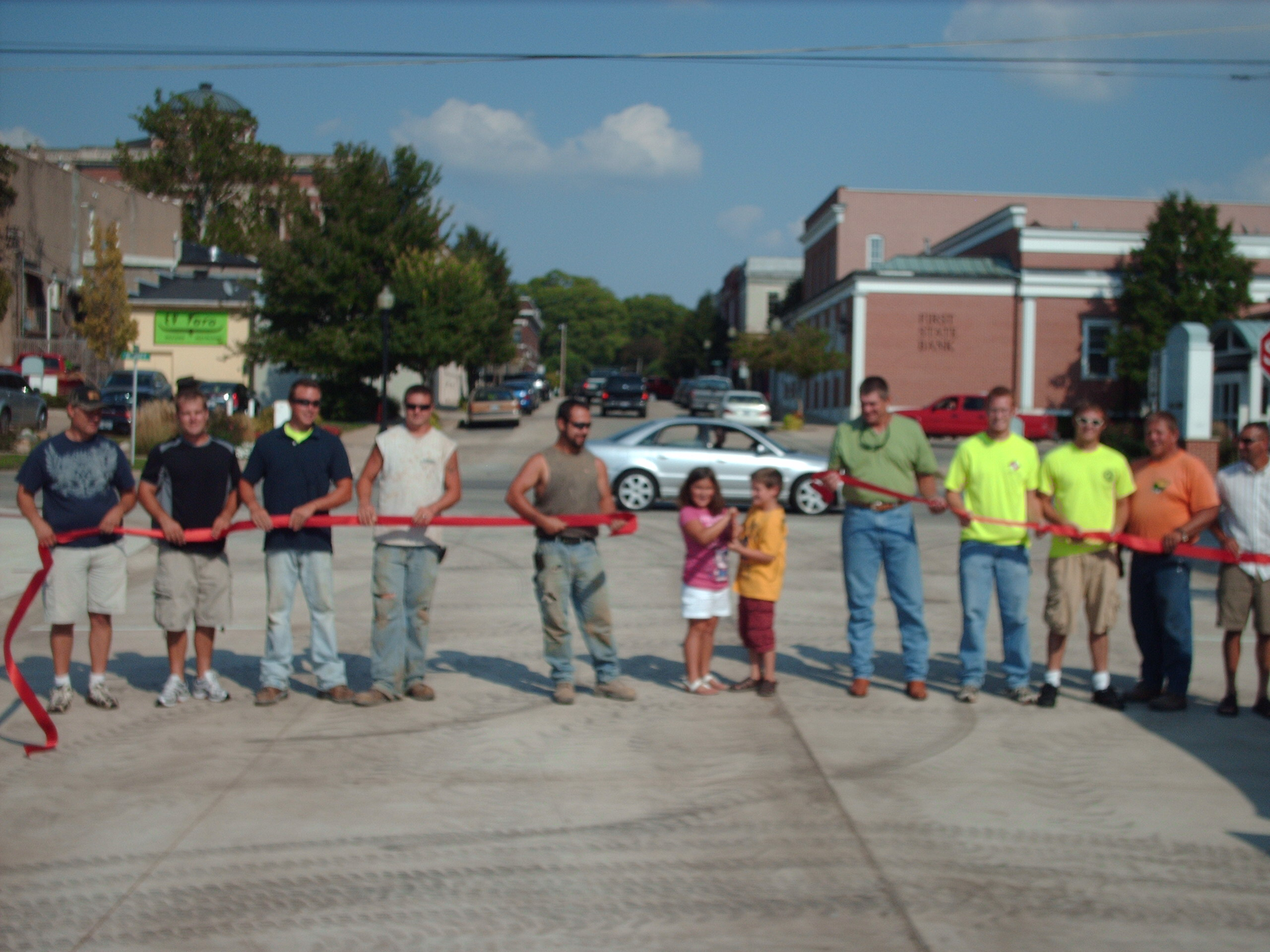Main Street ribbon cutting