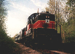 Vintage diesel train