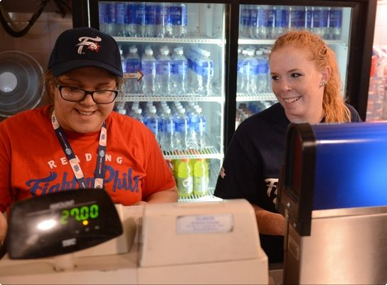 Concession stand workers